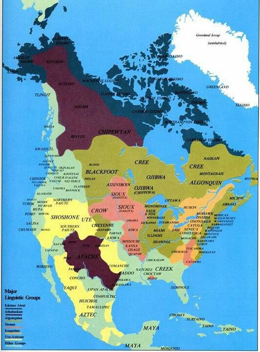 Western Belize Happenings Map of North America BEFORE the EUROPEAN