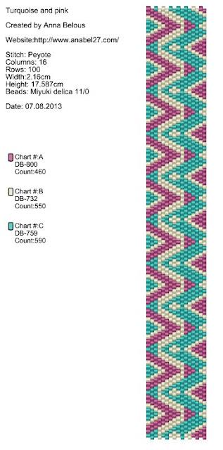 схемы браслетов мозаикой бисер бисероплетение анабель