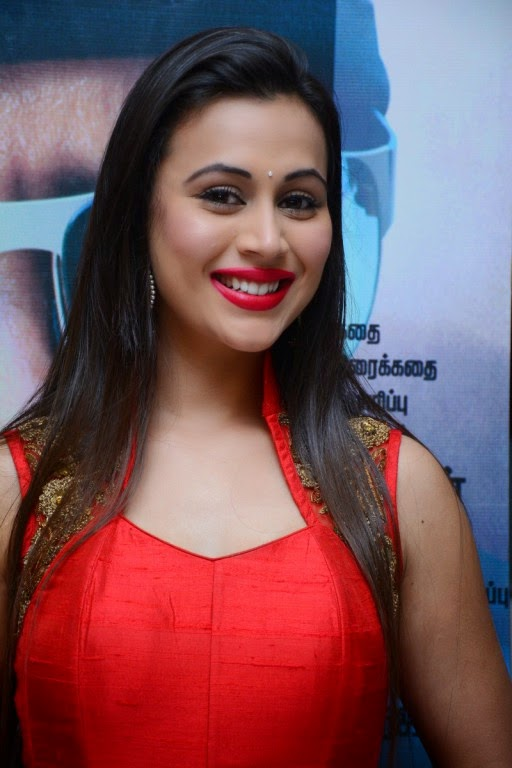 Actress Charlotte Claire Latest Cute Hot Exclusive Red Dress