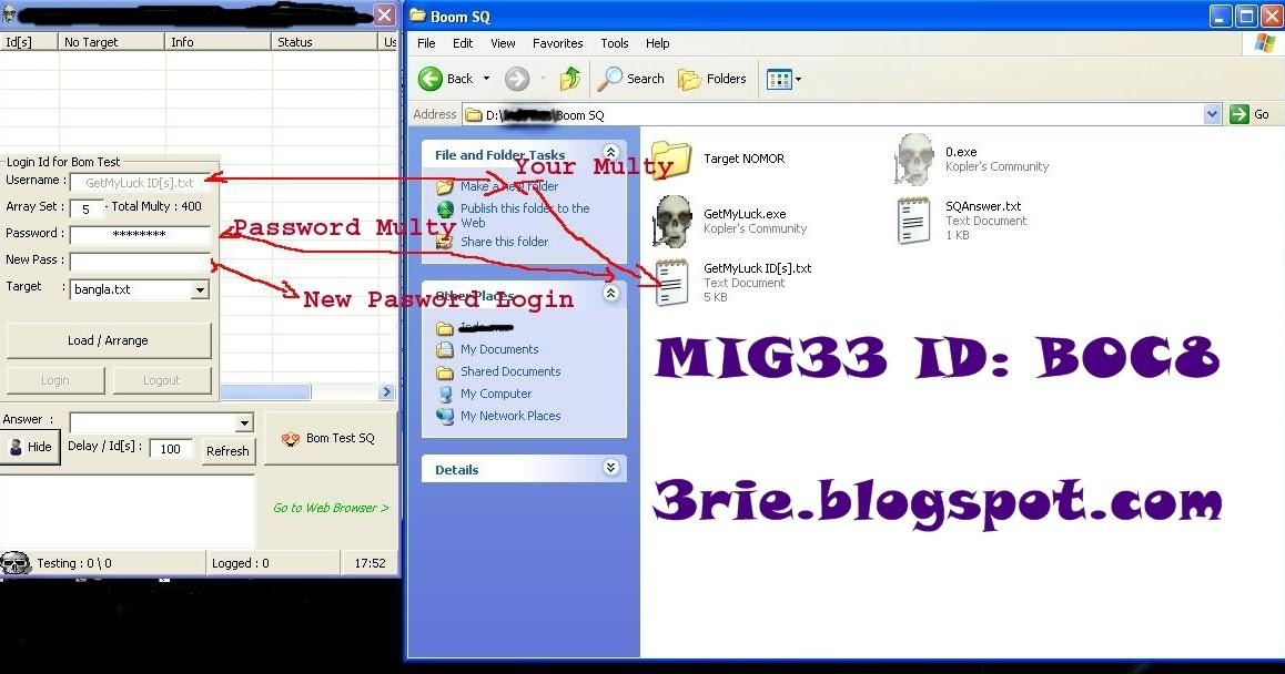 Aplikasi Brutal Crack SQ (security question) ID mig33