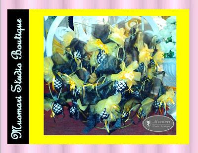 Bunga pahar gantung - Tema hitam-Kuning