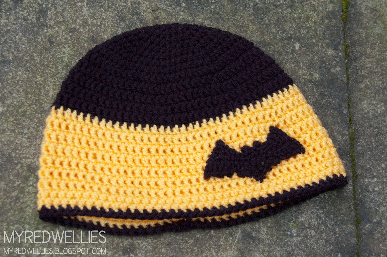 Crochet Pattern Batman Hat : Batman Crochet hat, a handmade gift My Red Wellies