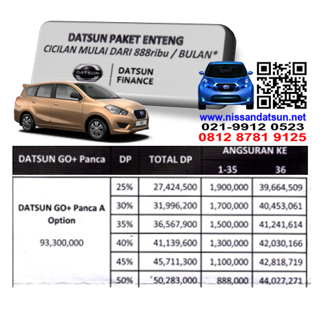 KREDIT DATSUN GO+ PANCA A OPTION PAKET ENTENG