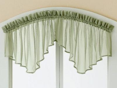 If you want to cover a small partof your kitchen window use valance