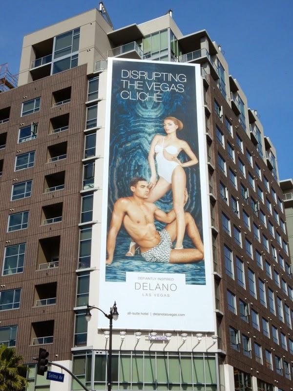 Disrupting Vegas cliche Delano Hotel billboard