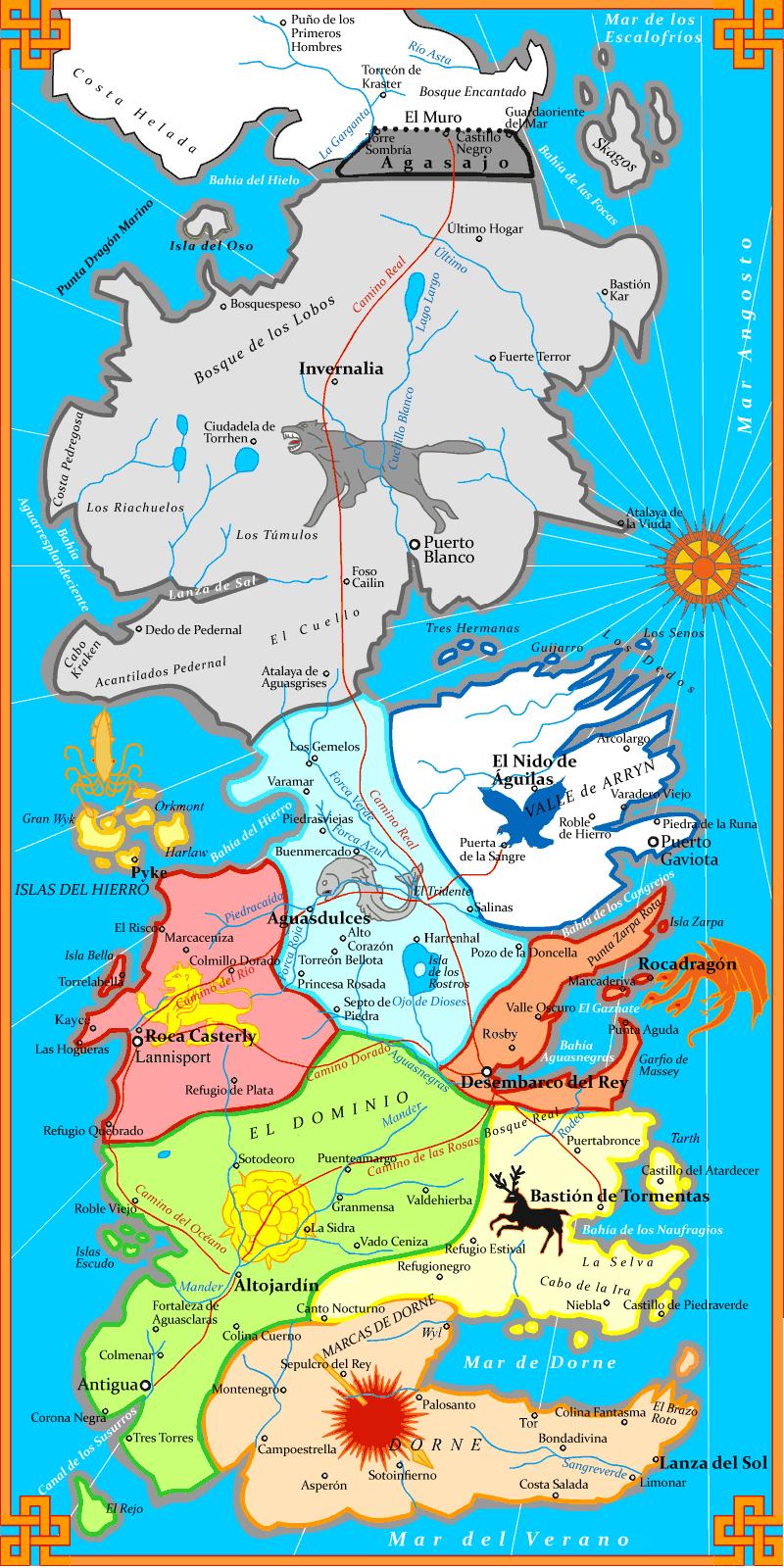 Mapas del mundo Mapa++juego+de+tronos