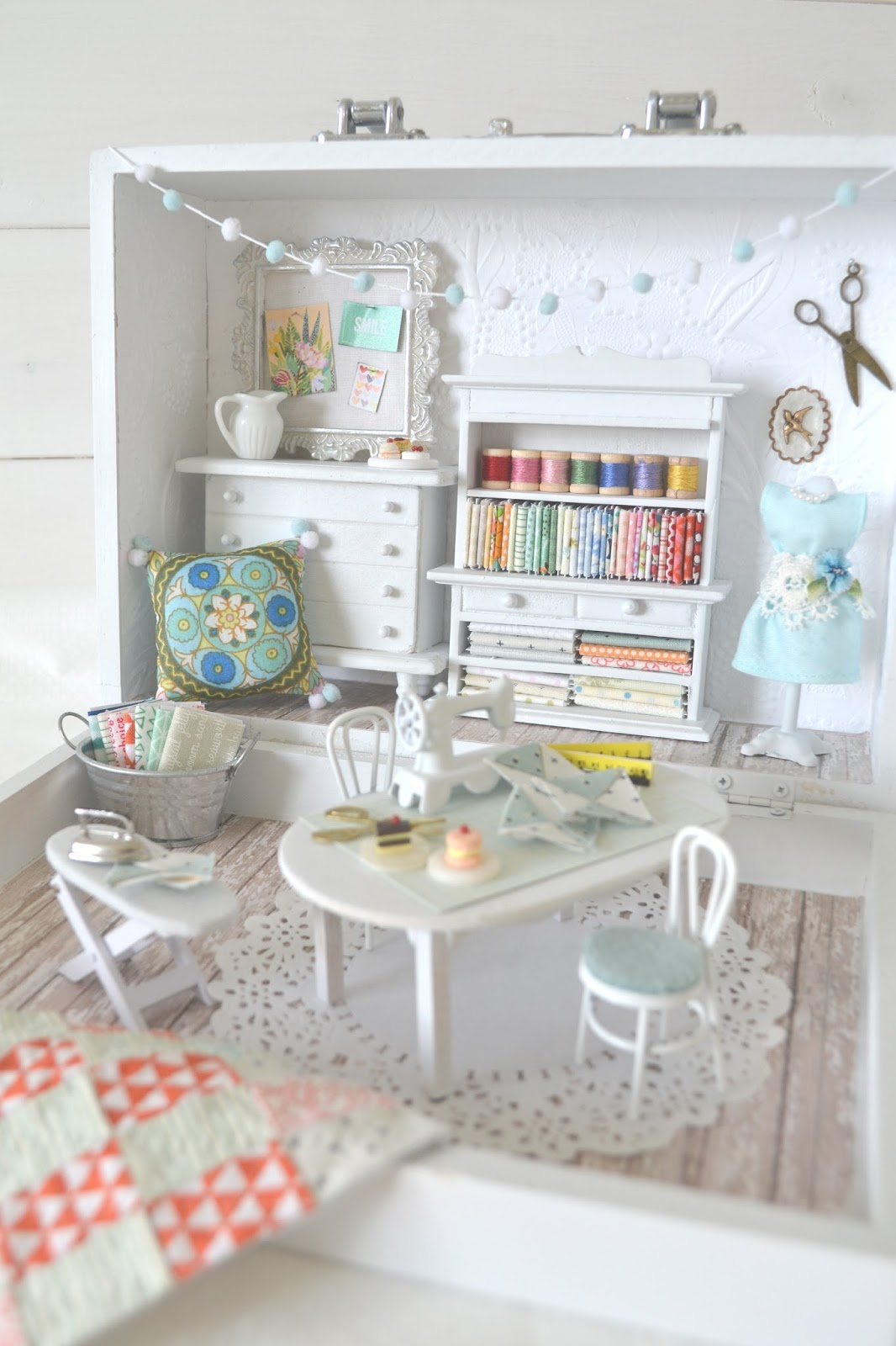 Tea Rose Home: Big Reveal of Small Sewing Room ~ Part 2