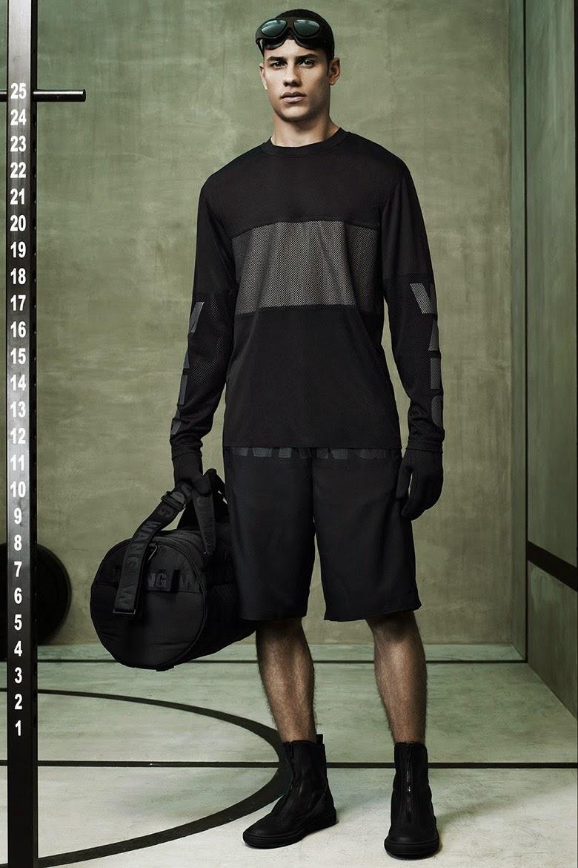 Collection Hommes Alexander Wang x H&M 2014 neoprene sportswear t-shirt ajouré résille bermuda
