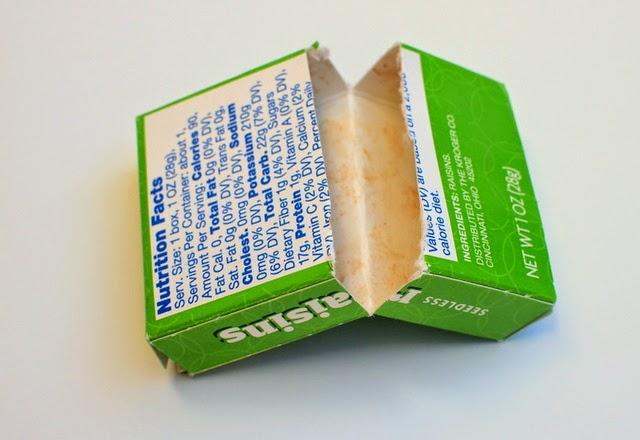 cut up raisin box