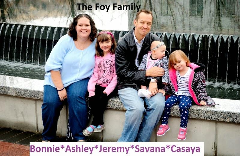 Hi from the Foy family!