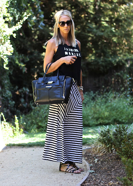 layering tank with maxi dress