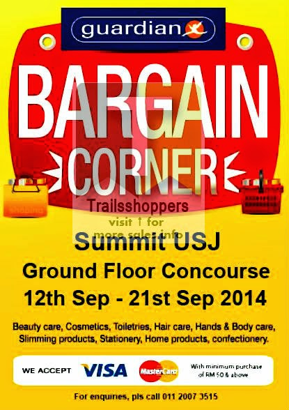 guardian bargain corner sale pharmacy malaysia summit usj subang jaya