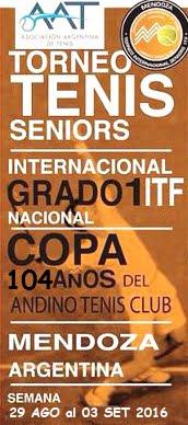 ITF SENIORS G1 - ANDINO COPA 104 AÑOS - COMIENZA EL TORNEO