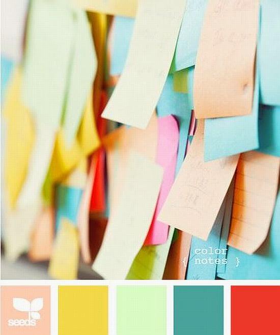 colorful post it color palette
