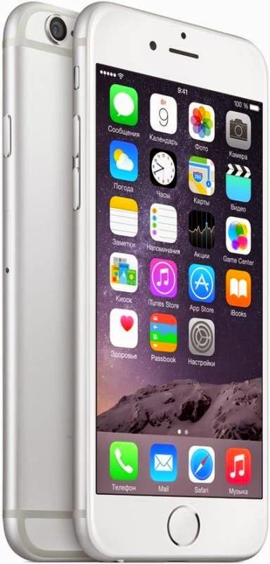 Мобильный телефон Apple iPhone 6 16 Гб Silver - самый мощный гаджет смартфон Apple