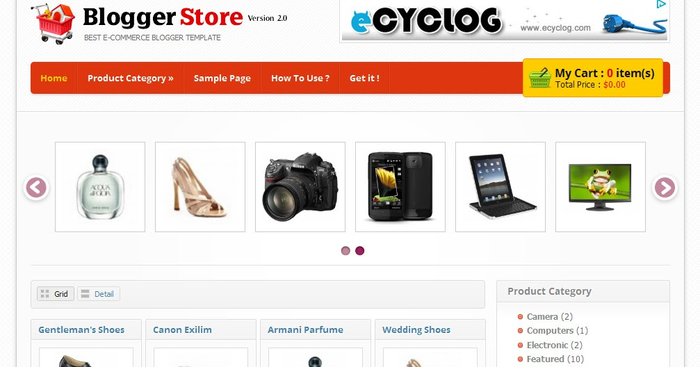 Great Shopping Cart Template For Blogger Images Gallery >> Awesome ...