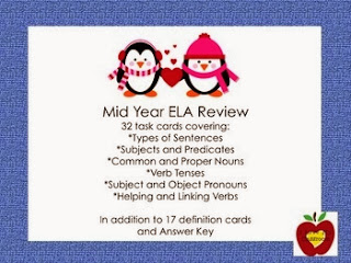 http://www.teacherspayteachers.com/Product/Mid-Year-ELA-Review-Task-Cards-Penguin-520116