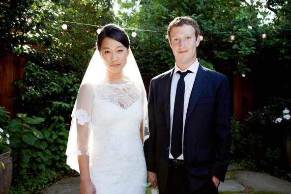 facebook ceo mark zuckerberg gets married with priscilla chan
