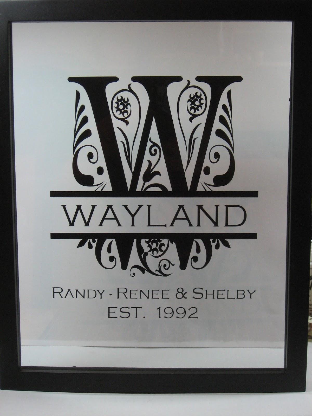 Paper Renee: Family Name Vinyl Floating Frame