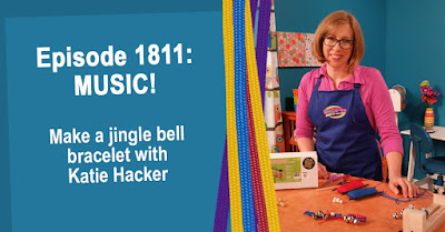 Make a jingle bell Parachute Cord bracelet with Katie Hacker.