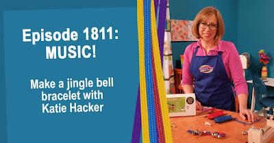 Make a jingle bell Parachute Cord bracelet with Katie Hacker.