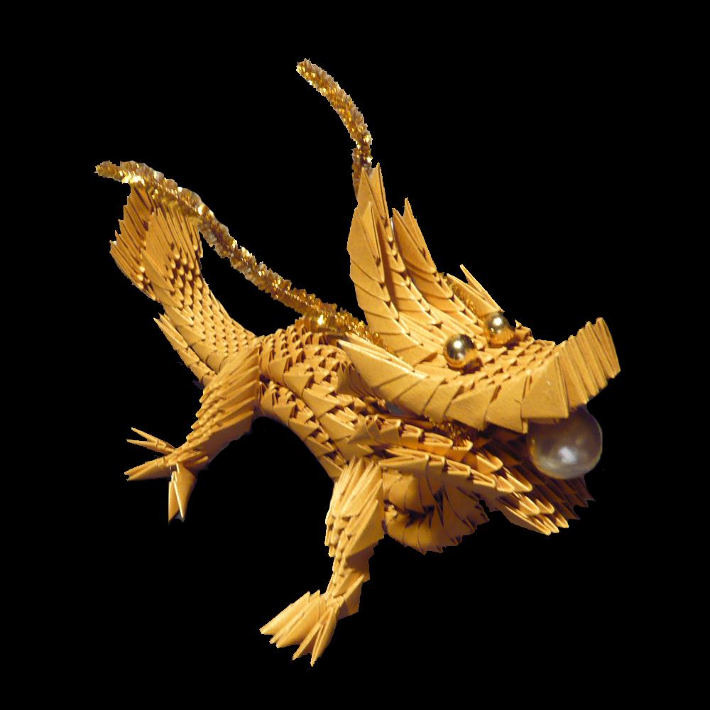 3d scanner image 3d origami dragon