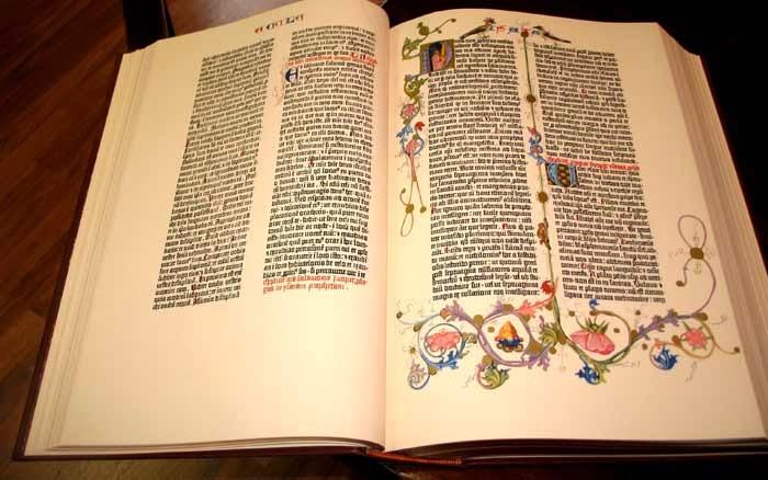 Biblia de las 42 líneas de Gutemberg, el siguiente paso a la caligrafía