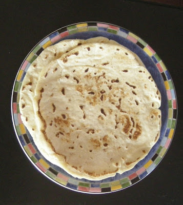 handmade corn tortilla