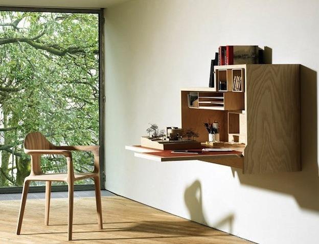 Inspiring Modern Home Falling Dansu Unique Wall Mounted Cabinet Desk By Joseph Walsh