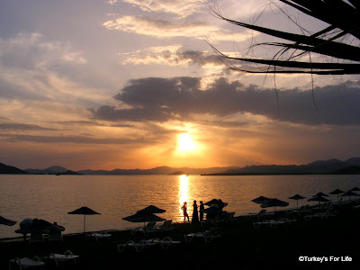 Calis beach sunset Turkey