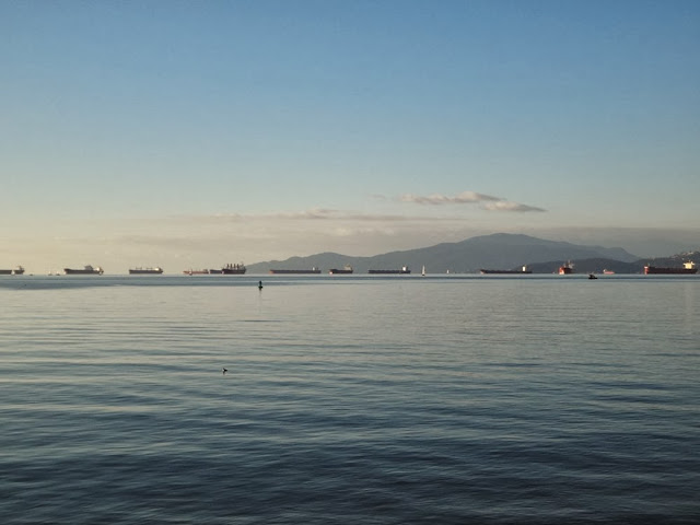Ships in the English Bay, Vancouver