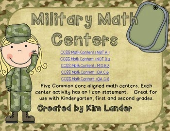 http://www.teacherspayteachers.com/Product/Military-Inspired-Math-Centers-CC-Aligned-1356504