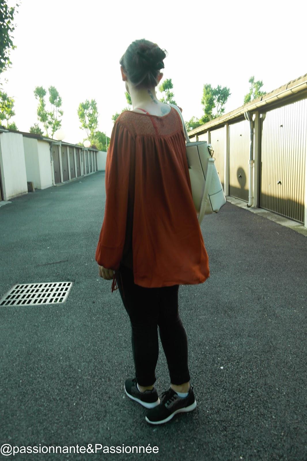 blouse loose dentelle H&M