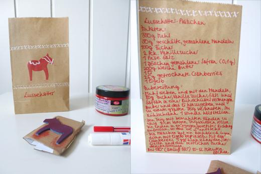 Geschenkverpackung Verpackung DIY Plätzchen Kekse Geschenke aus der Küche Stempel Kraftpapier Papiertüte Weihnachten Anleitung Blog Holunderweg18