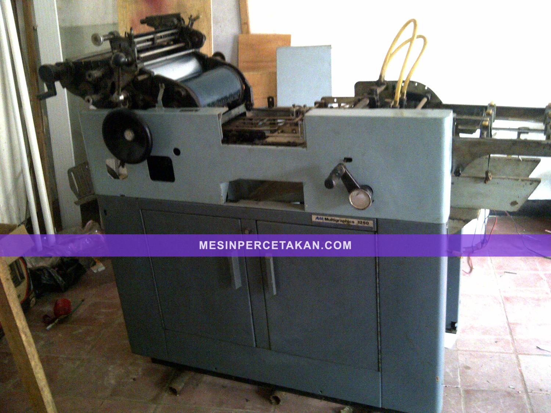 Berikut spesifikasi dan foto mesin cetak Multilith 1250