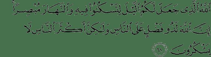 Surat Al Mu'min Ayat 61