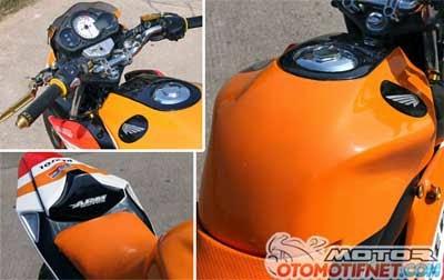 Modifikasi Honda CB150 motif Repsol