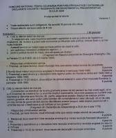Subiecte istorie titularizare 2009 - Satu Mare pagina 1
