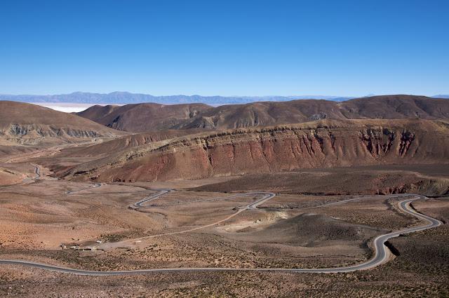 road salt flats Purmamarca argentina
