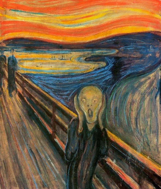 10 Out Of The Most Beautiful Paintings Of All Time - The Scream by Edvard Munch (1893)