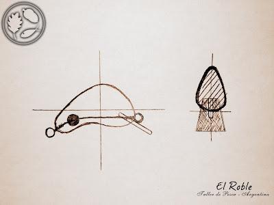 señuelo artesanal mojarringa el roble taller de pesca handmade fishing lure ultralight ul