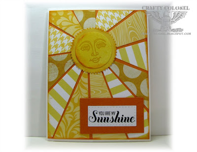 Crafty Colonel Donna Nuce for Cards in Envy, StampinUp Ray of Sunshine
