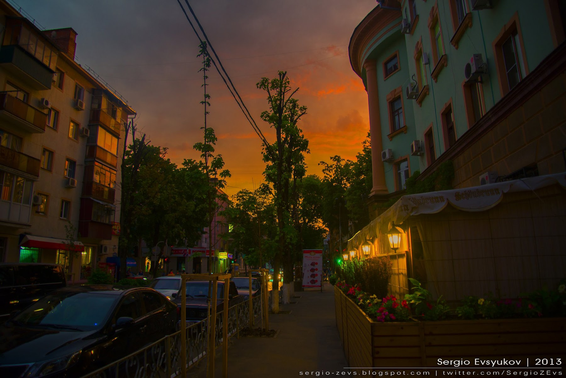 Sunset in Russia