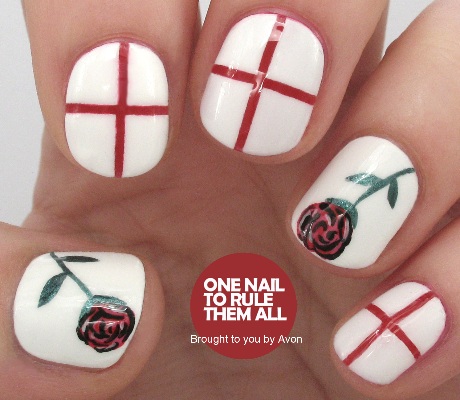 One Nail To Rule Them All: St Georges Day Nail Art