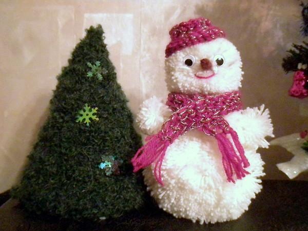 Новогодние поделки своими руками в садик снеговик