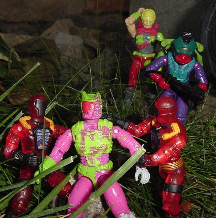 1992 Eco Warriors, Toxo Zombie, 2003 Inferno BAT, Funskool Toxo Viper, Letal, Cesspool, Estrela, Brazil, Forca Electronica