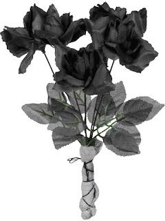 halloween pynt roser