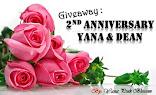 Giveaway : 2nd Anniversary Yana & Dean
