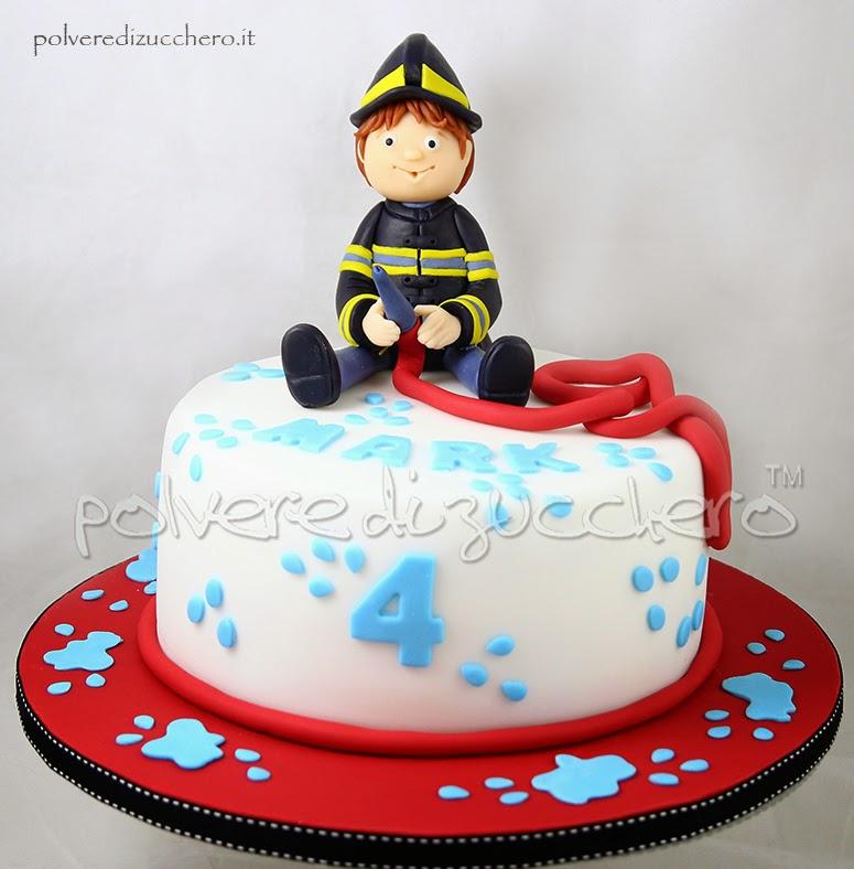 torta pompiere fireman cake polvere di zucchero torta decorata bambini cake design