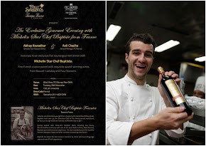 A special dinner created by Michelin star Chef Baptiste at West View ITC Maurya...